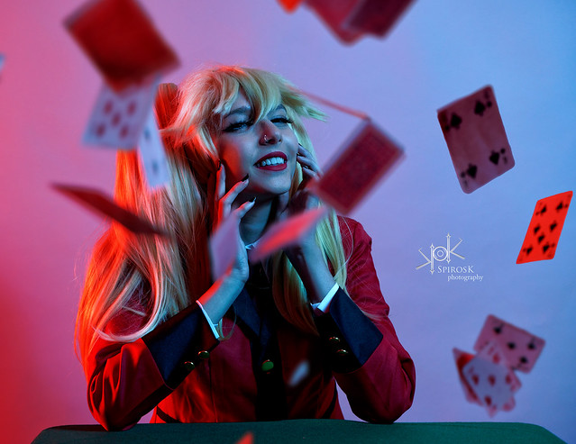Kawaii Demon as Mary Saotome from Kakegurui, by SpirosK photo. (IV: love the cards) ~Explored~