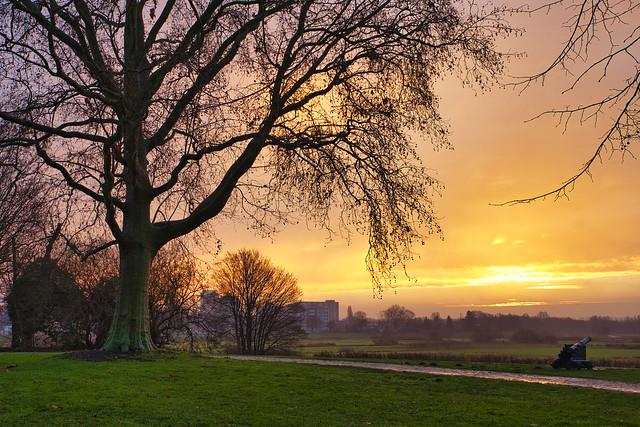 Sunrise at Den Bosch..