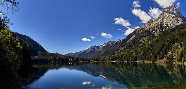 Blick westwärts über den Spiegelsee