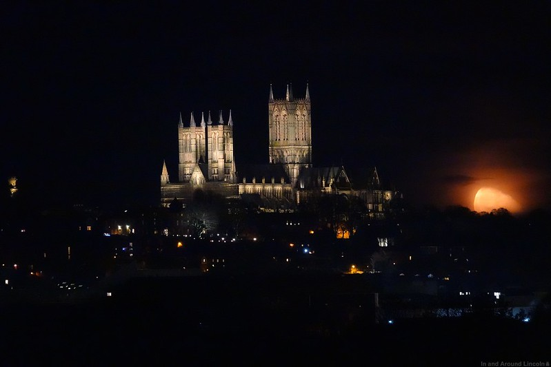Moonrise over Lincoln Cathedral