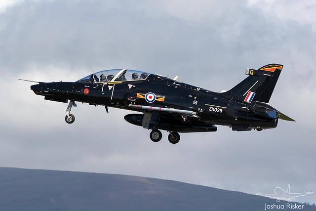 RAF IV(R) Squadron BAe Hawk T.2 ZK026 @ Isle of Man Airport (EGNS/IOM)