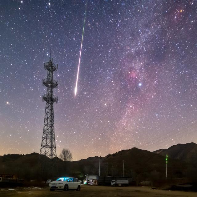 Fireball from Geminids meteor shower 2020