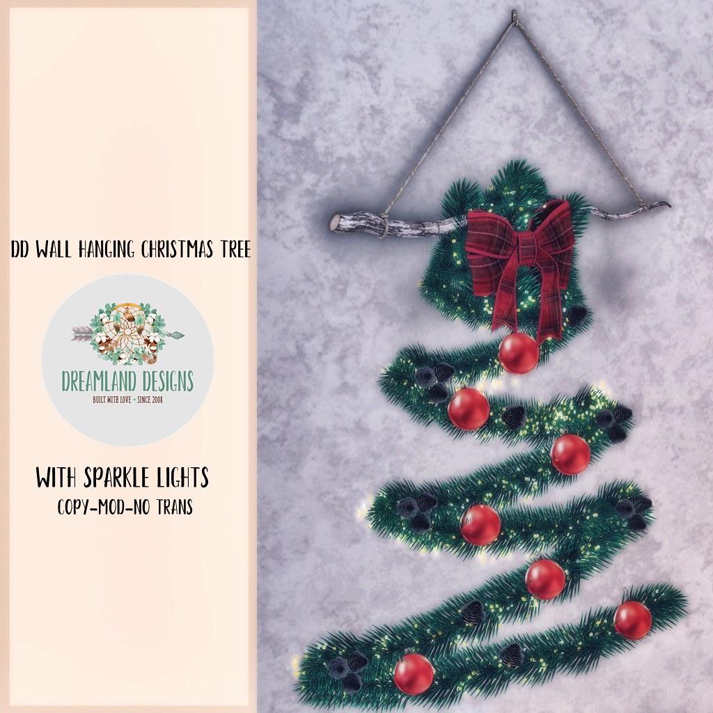 DD Wall Hanging Christmas Tree AD