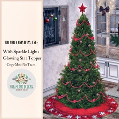 DD Red Christmas Tree AD