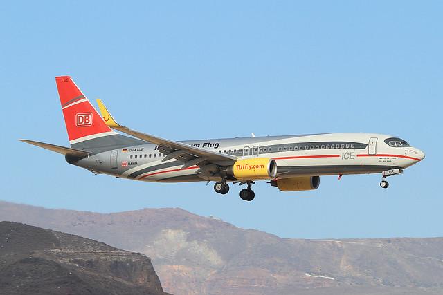 D-ATUE, Boeing 737-8K5(WL) TUIFly @ Gran Canaria  LPA GCLP