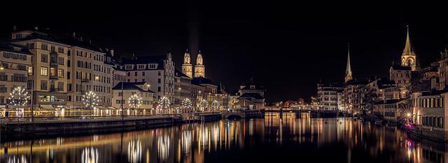 Zurich by night - Switzerland