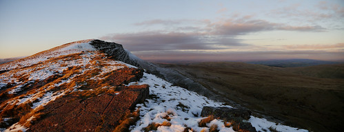 wales mountains breconbeacons landscape winter panorama snow fanhir