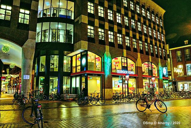 Burger King,Grote Markt / Guldenstraat, Groningen Stad, the Netherlands.