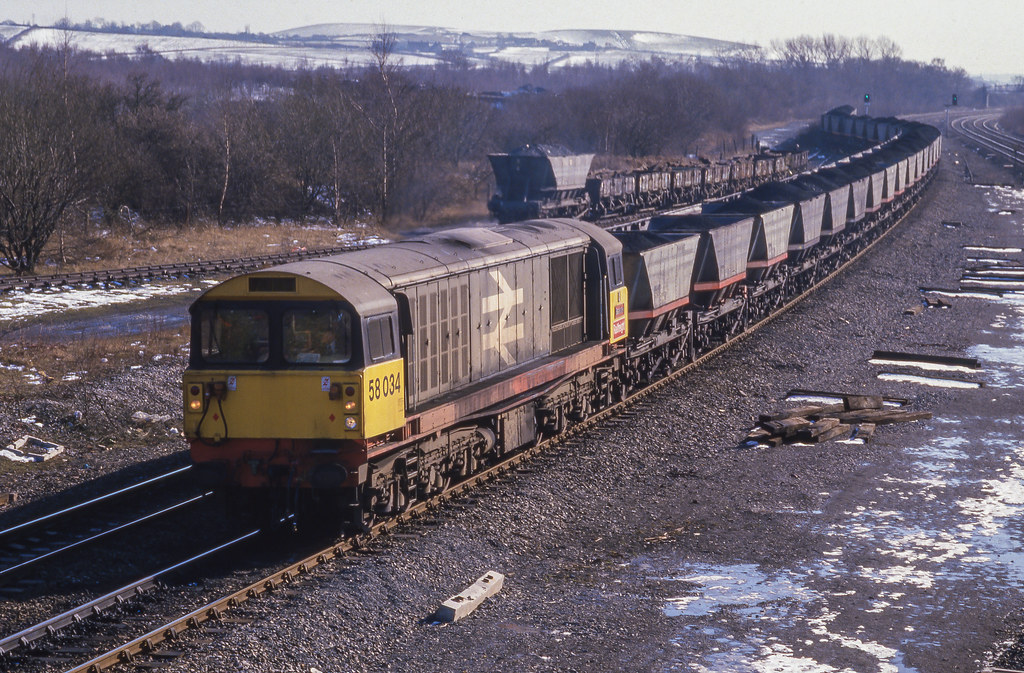 58034 At Ironville And Codnor Park. 27/02/1986.