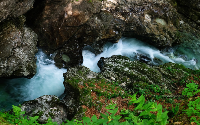 Mostnica Gorge near Lake Bohinj, Slovenia