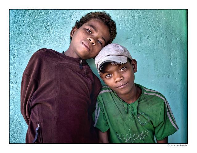 Gamins des rues à Madagascar