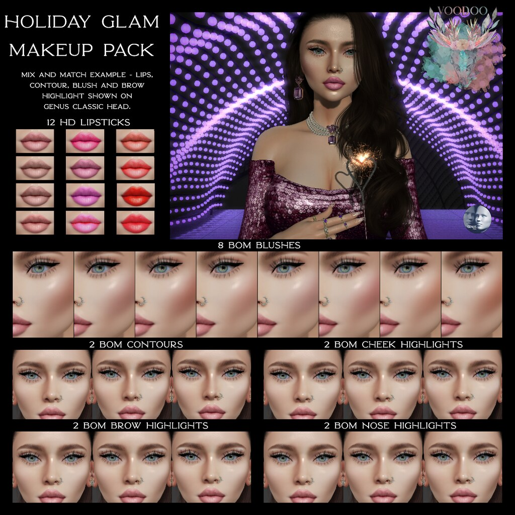 Voodoo – Holiday Glam mini Makeup Pack – Genus