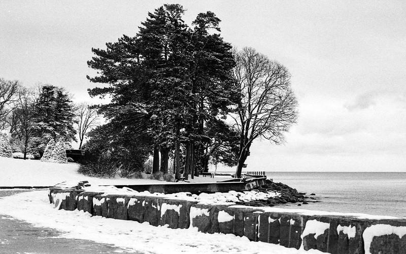 Gairloch Snowcovered Waterfront Path