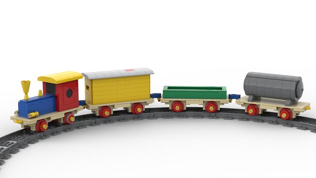 Lego Wooden Toy Train PoweredUp