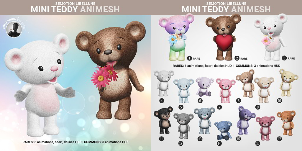 SEmotion Libellune Mini Teddy Animesh