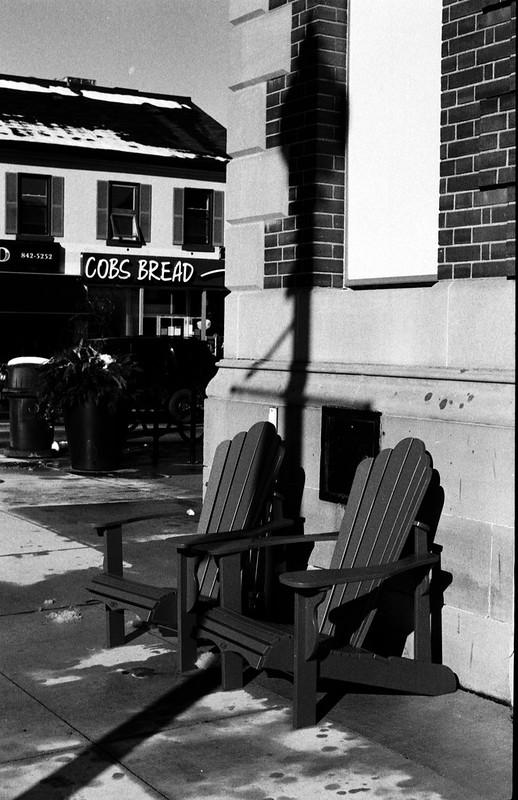 Pair of Muskoka Chairs on the Corner