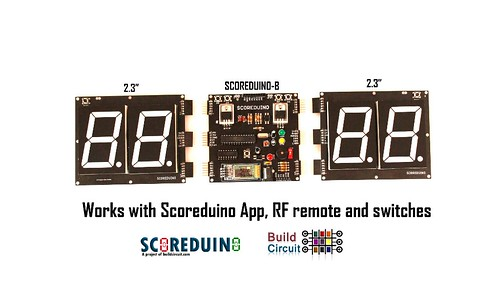 Bluetooth Controlled Digital Scoreboard based on Scoreduino-B (15)