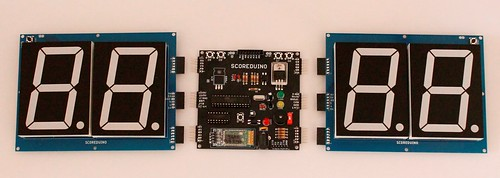 Bluetooth Controlled Digital Scoreboard based on Scoreduino-B (6)