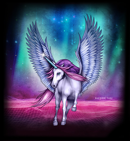 Synthwave Unicorn by Sherrie Thai of Shaireproductions.com