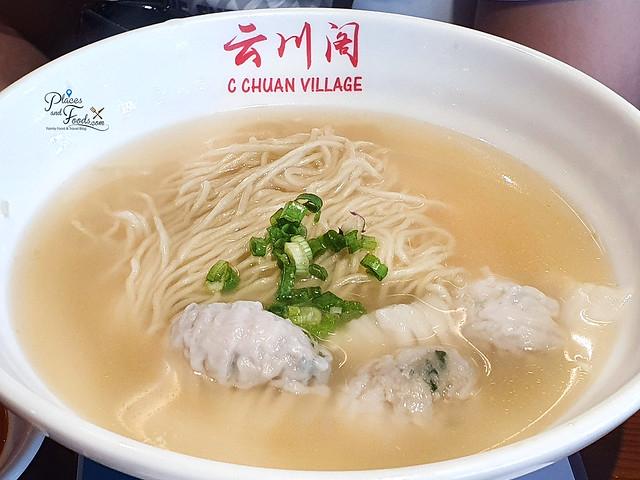 c chuan village wonton noodle