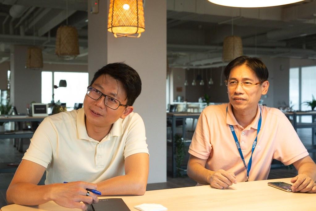 企業循環經濟發展專案總監 張凱迪(右)