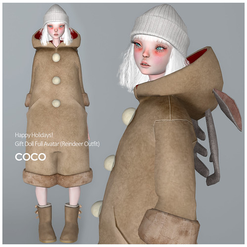 Gift Doll Full Avatar (Reindeer Outfit)