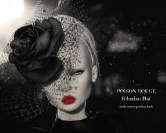 POISON ROUGE Felurian Hat @Cosmopolitan