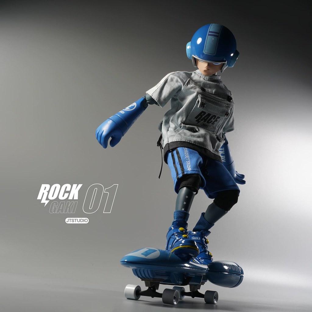 J.T Studio Street Mask 系列【Rock Gaki TRACK DAY-1】1/6 比例人偶