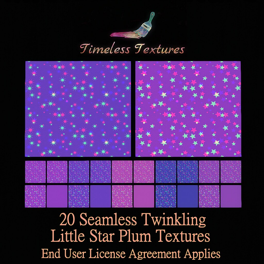 2020 Advent Gift Dec 14th – 20 Seamless Twinkling Little Star Plum Timeless Textures
