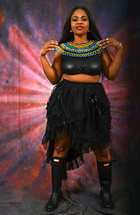 DSC_8840 Lori from Jamaica in Black Outfit with South African Zulu Beads Birthday Celebration Portrait Photo Shoot Shoreditch Studio London