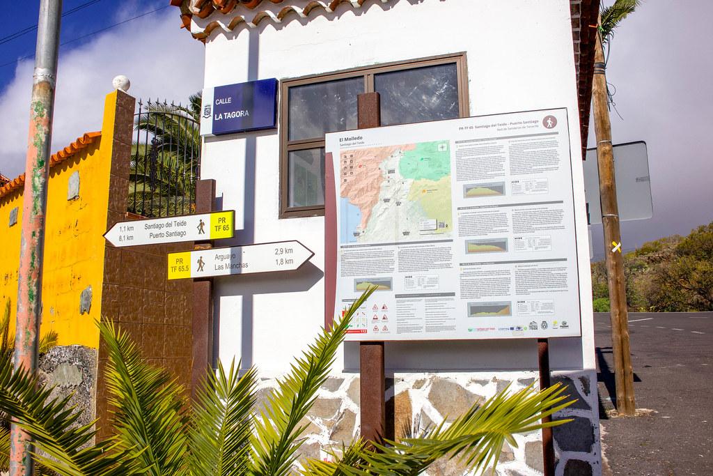 Panel informativo situado en El Molledo