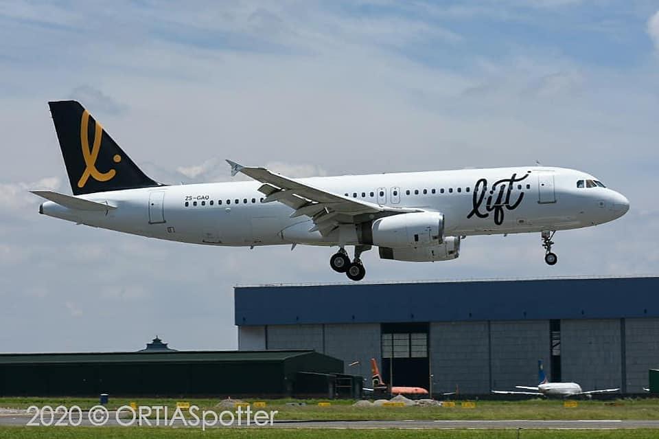 Lift A320-231 ZS-GAO
