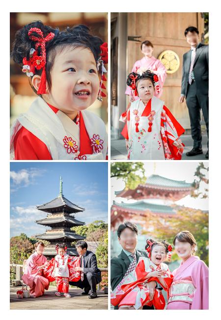 興正寺で七五三のロケーション撮影 家族の写真