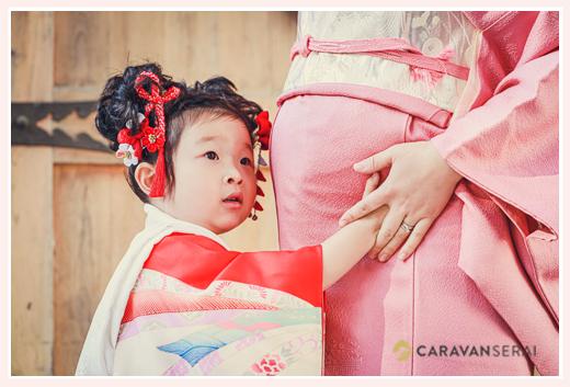 七五三とマタニティフォト 3歳の女の子