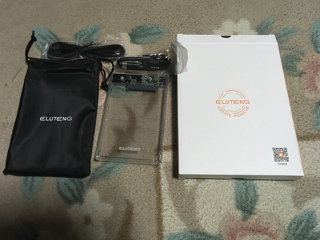 ELUTENG USB Type C 2.5インチ HDD/SSD ケースを買ってみた