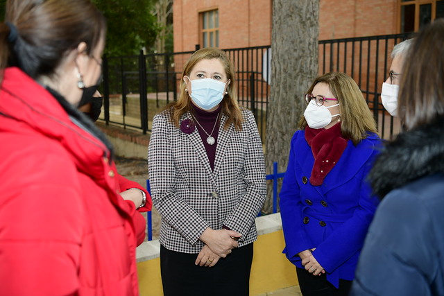 Inauguración de la reforma del CEIP 'Alcalde Galindo' en Chinchilla de Montearagón (Albacete)