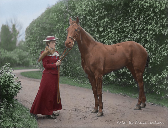 Lady Susan and her horse (1900)