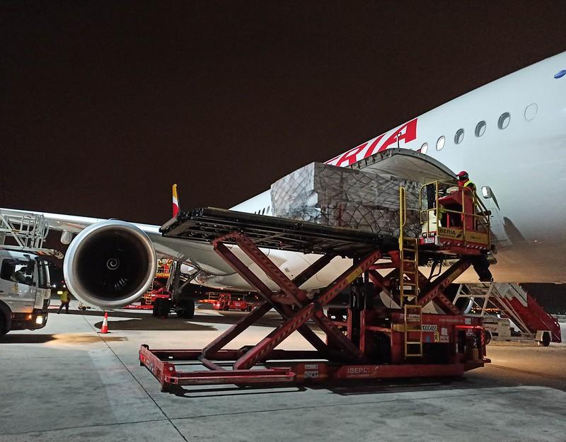 La carga aérea ha crecido exponencialmente en los ultimos meses