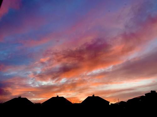 sky dawn sunrise winter