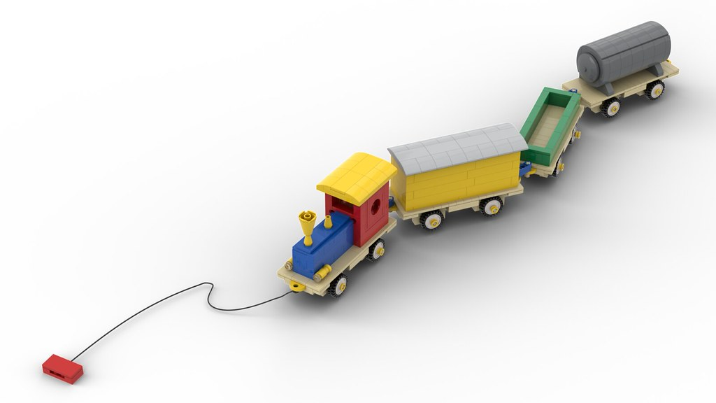 Lego Wooden Train