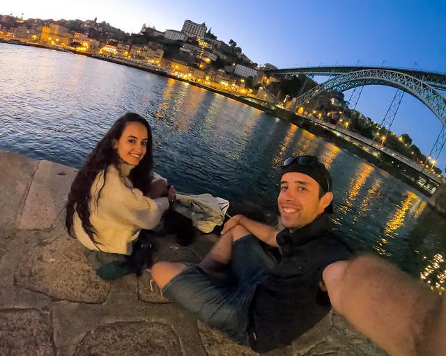 Uno de los mejores atardeceres que vimos en 3 días por Oporto