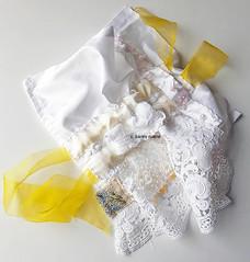 white, lemon, silk, embroidery