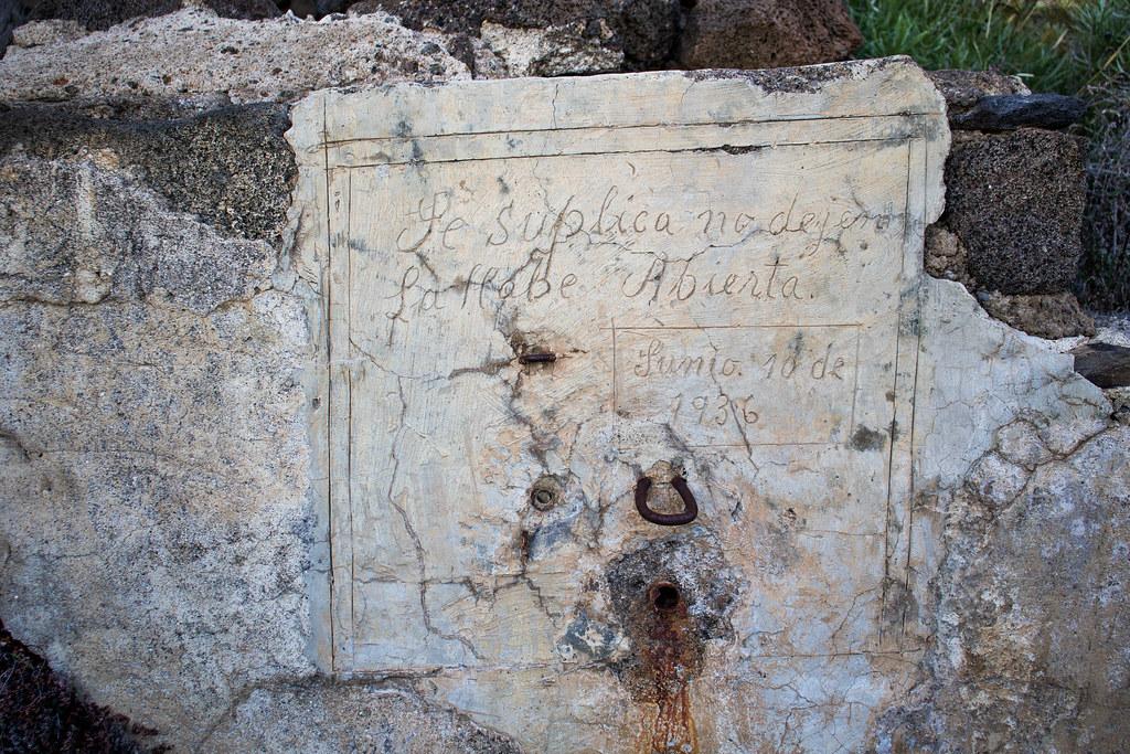 Inscripción en los lavaderos de la Fuente de Tenerguera