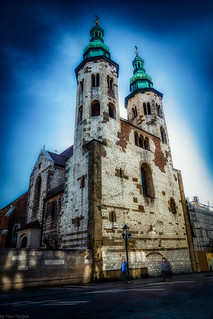 View of St. Andrew's Church on Grodzka Street in Kraków, Poland.  422-Edit-Edita