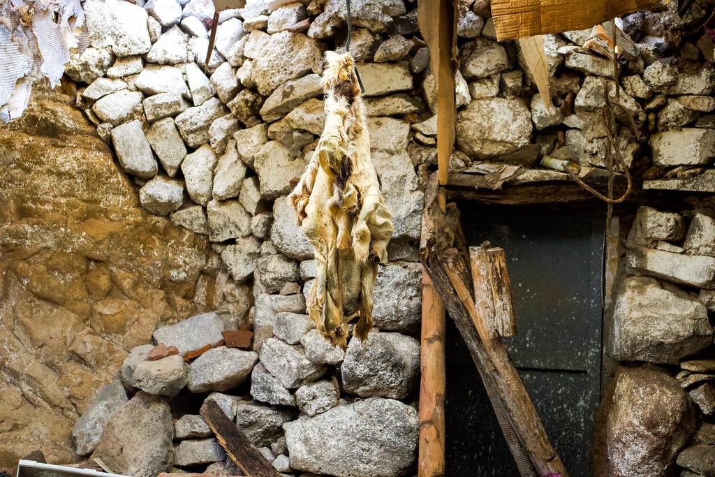 Interior del caserío de Los Quemados en Teno