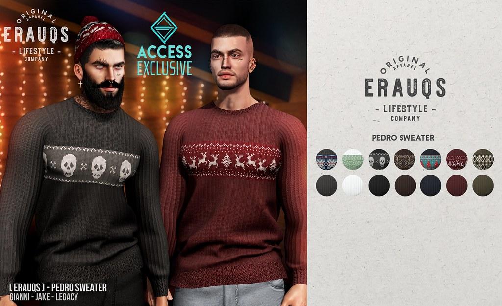 [ ERAUQS ] – Pedro Sweater at ACCESS