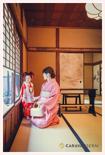 名古屋市昭和区の興正寺で七五三のロケーション撮影