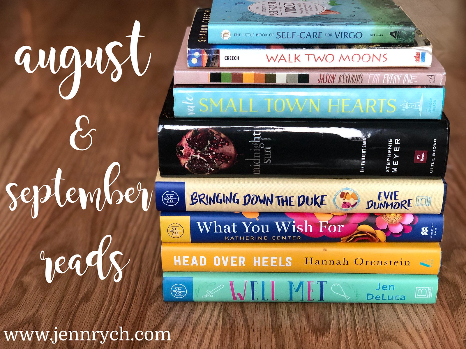 August and September 2020 Book Stack | www.jennrych.com