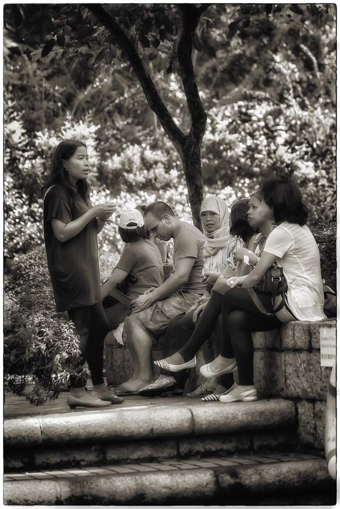 Lunch Time in a Hong Kong Park