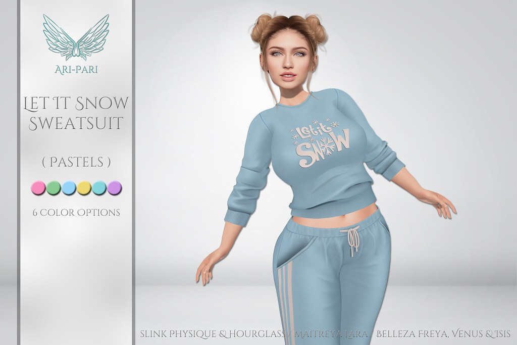 [Ari-Pari] Let It Snow Sweats – Pastels